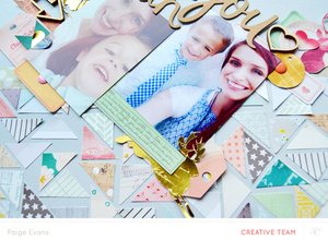 Walden Video - Creating a Layout with Paper Scraps | Paige Evans