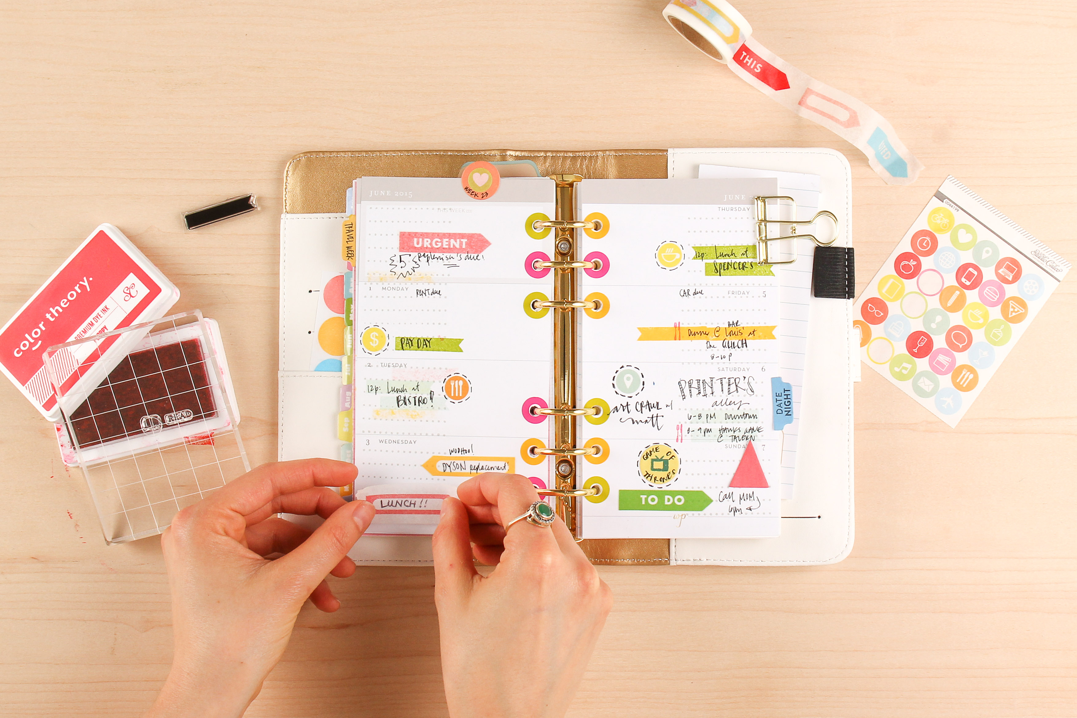 July Planner Kit in Action