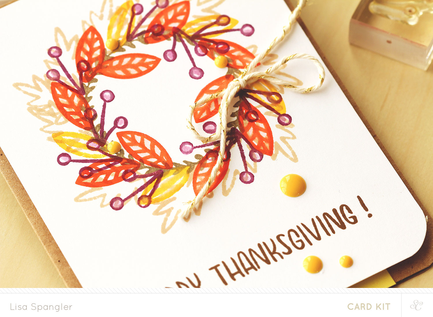 Tutorial: Happy Thanksgiving with Lisa Spangler