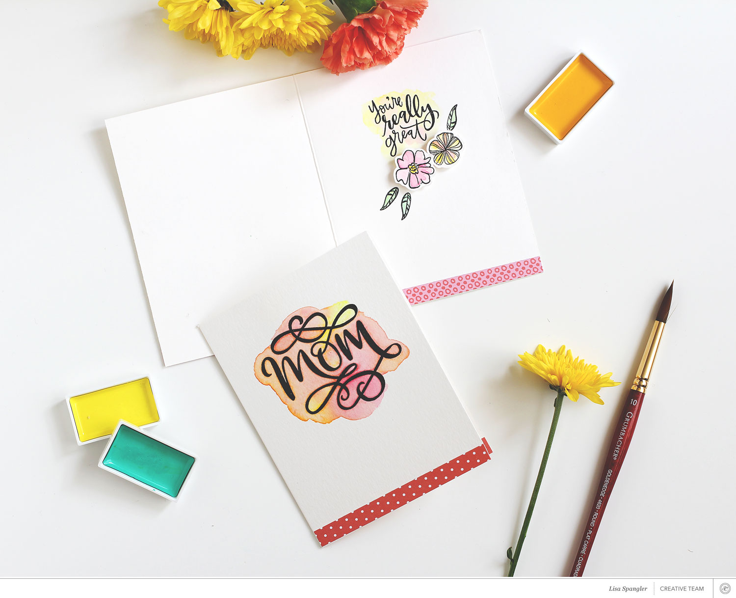 Tutorial: Mother's Day Card with Lisa Spangler