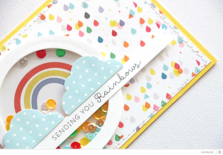 Tutorial: Rainbow Shaker Card with Natalie Elphinstone
