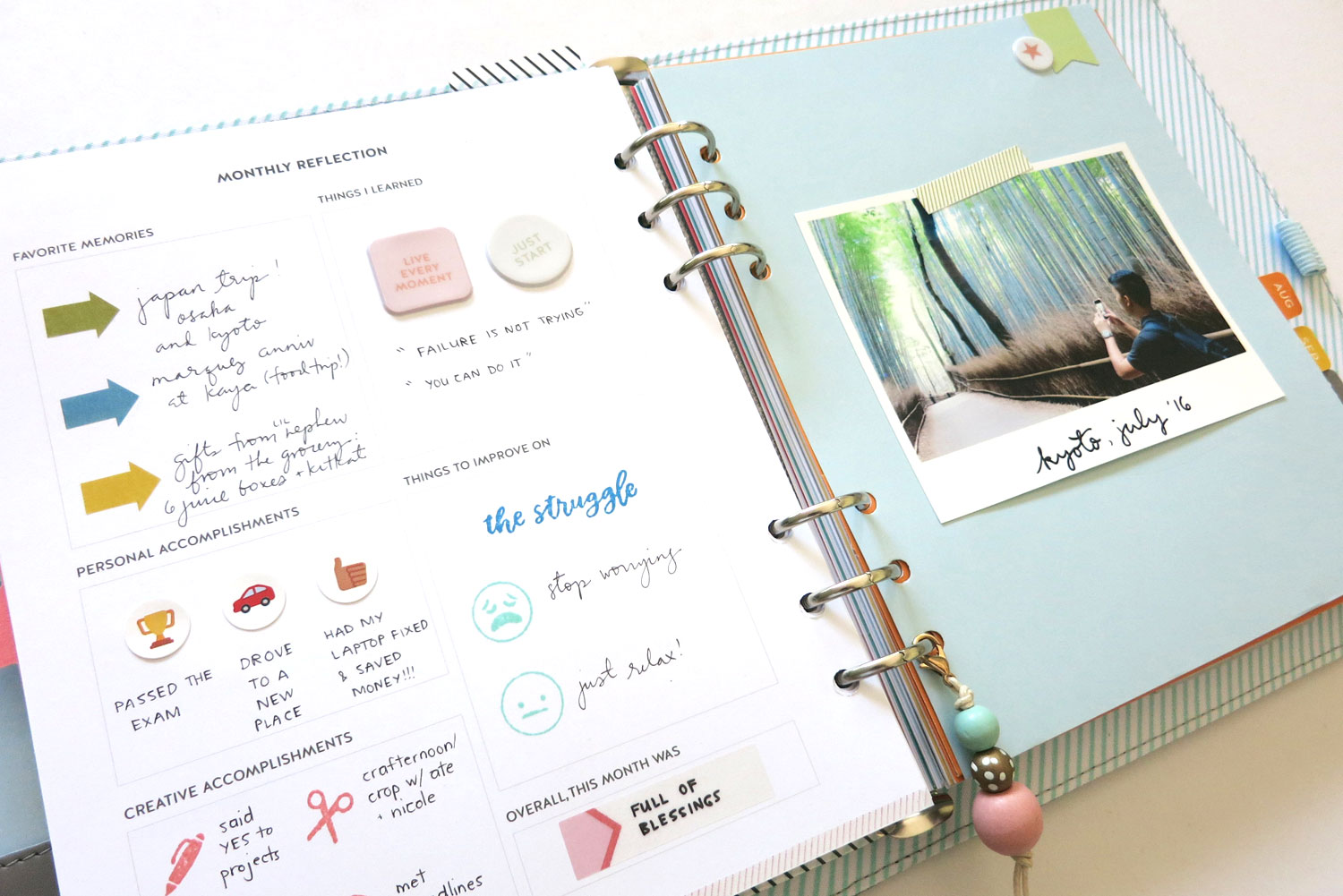 Tutorial | Using the Young At Heart Planner Kit with Rianne Alonte