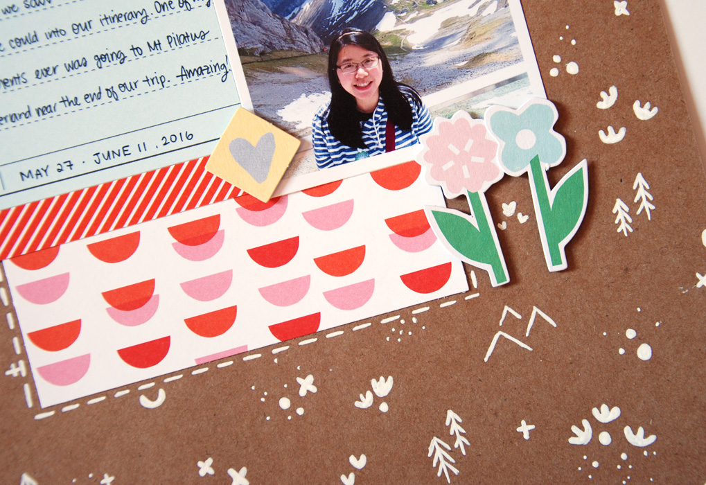 Using the Young At Heart Scrapbook Kit with Geralyn Sy