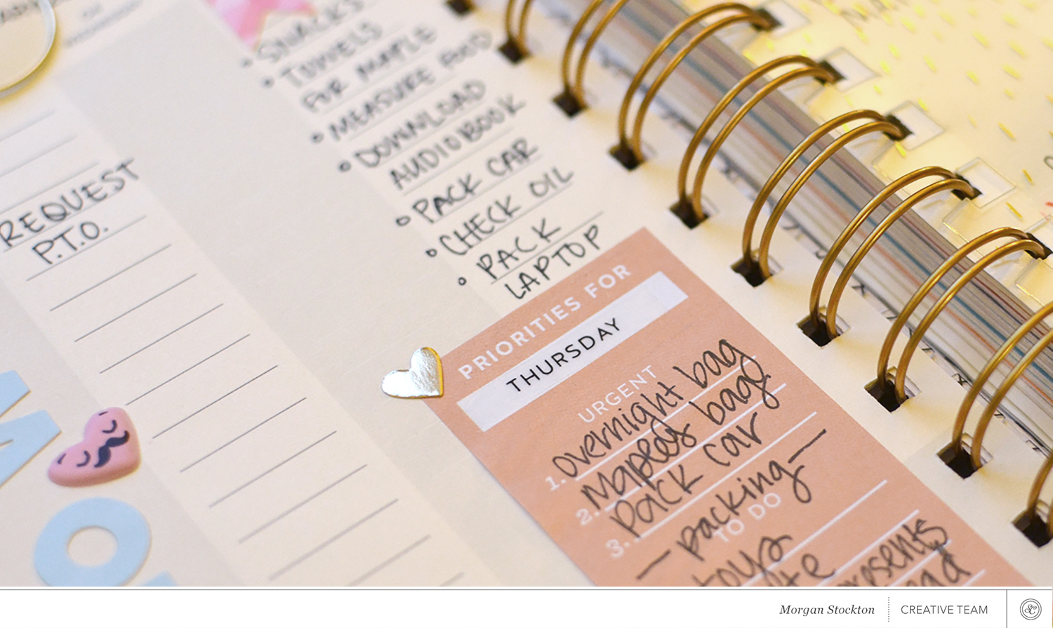 Using the Roman Holiday Planner Kit with Morgan Stockton