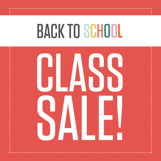 Back to School Class Sale
