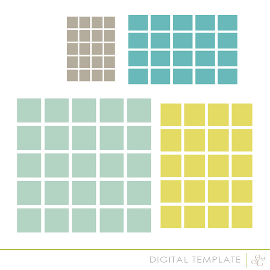The Basics | Squares layered template by Shanna Noel