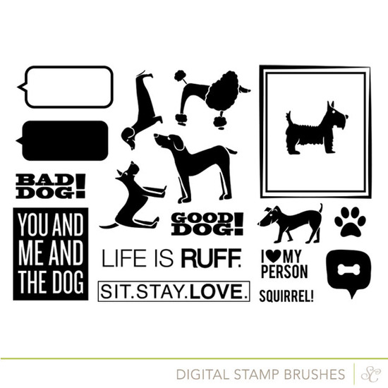 Dog Lover's Mini Kit Digital Stamps