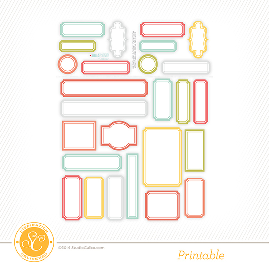 Penny Arcade Printable Labels by Hello Forever