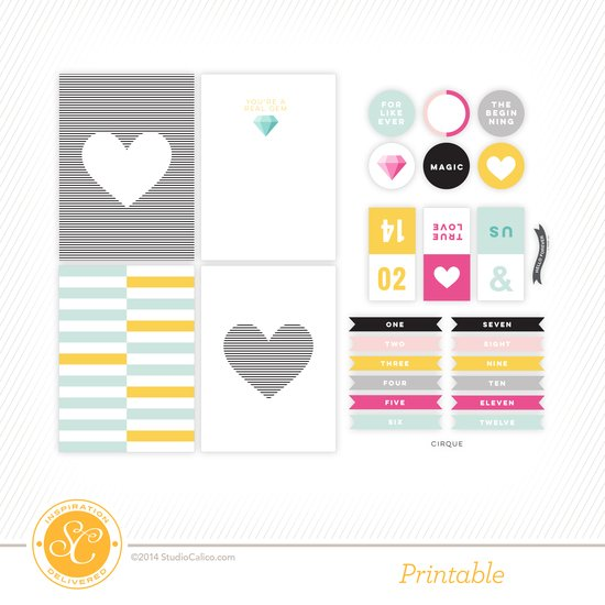 Cirque Printable Journal Cards by Hello Forever