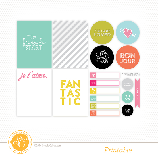 Cirque Printable Journal Cards by In A Creative Bubble