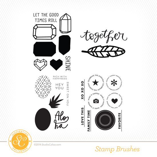 Cirque Scrapbook Kit Stamps