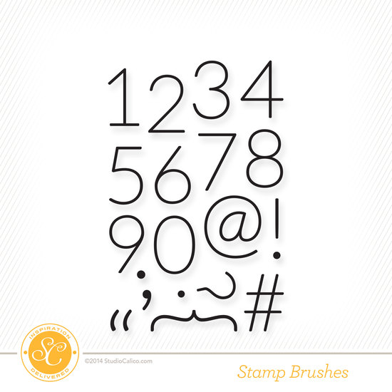 Odyssey Numbers Scrapbook Stamp