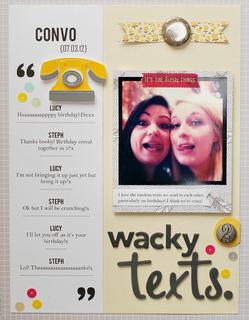 Wacky texts