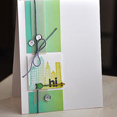 Cityscape hi card (scrapbook kit)