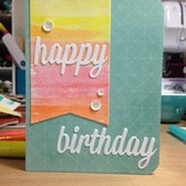 Watercolor birthday