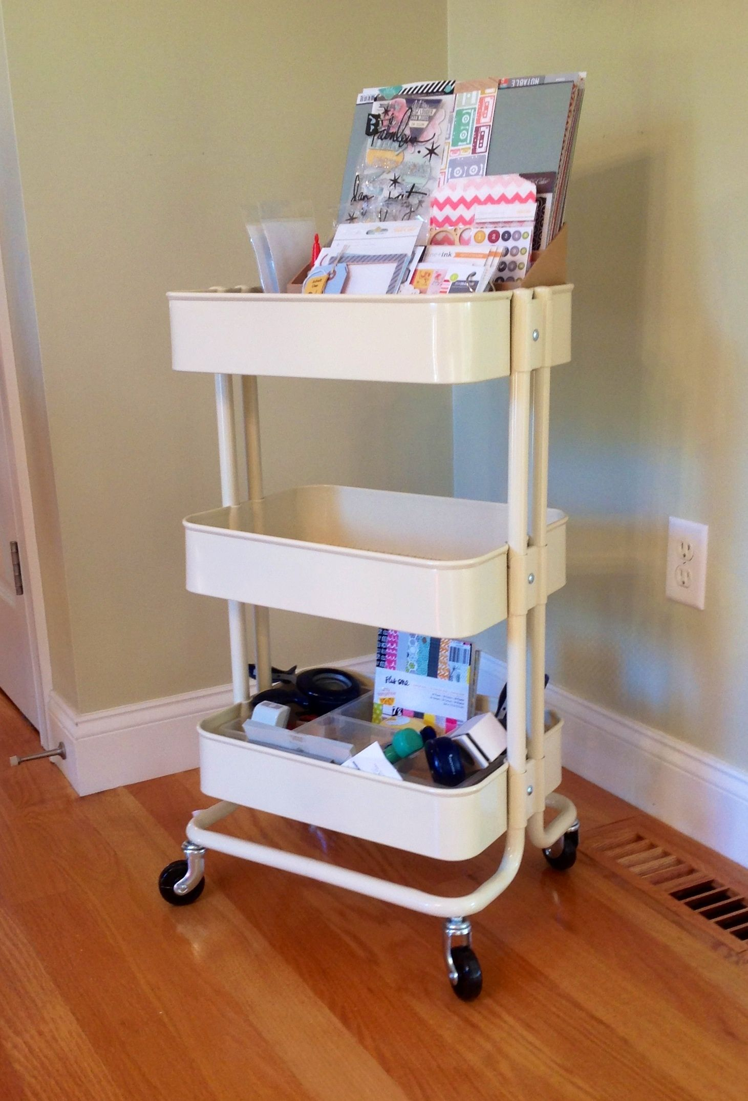 ikea raskog cart in cream by rhondapogo scrapbooking kits paper supplies ideas more at. Black Bedroom Furniture Sets. Home Design Ideas