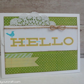 Green hello card