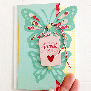 Happy august birthday card