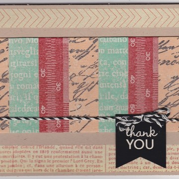 Thank you card with washi3