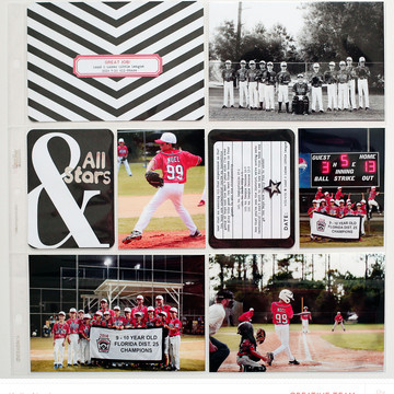 Project life 2014   all stars insert   studio calico sandlot pl kit   kelly noel