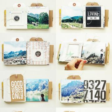 Mountains   mini album pages