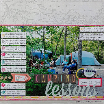 Camping lessons by jennifer larson sbc