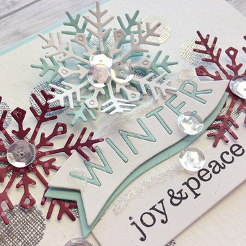 Winter joy and peace card