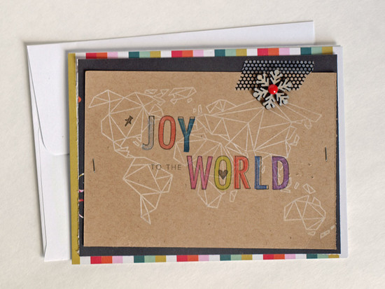 Joy to the world get happy gossamer blue origami map sabrina alery