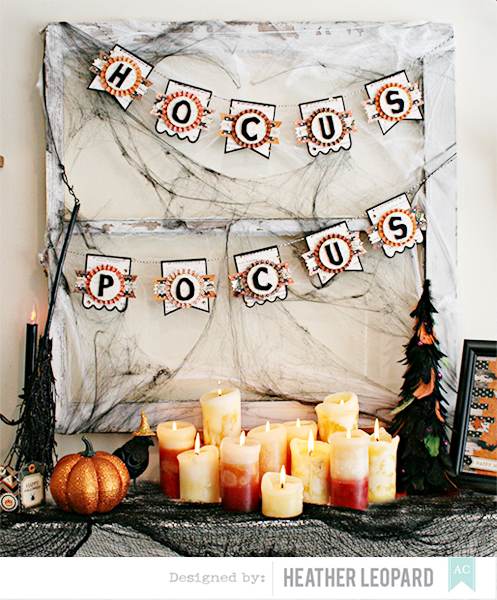 Hocus pocus banner by heather leopard american crafts