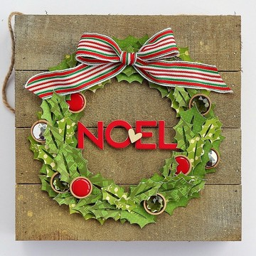 Noel wreath by sarah webb