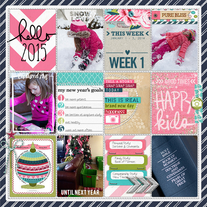 Project Life Ideas 2015 Project Life 2015 Week 1 w