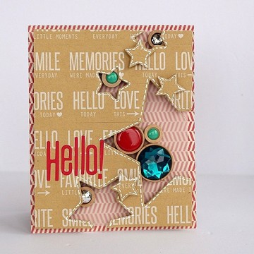 Hello! card by sarah webb