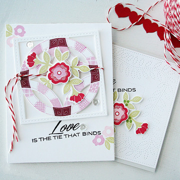 Love is the tie that binds quilted
