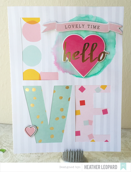 Love card by heather leopard american crafts