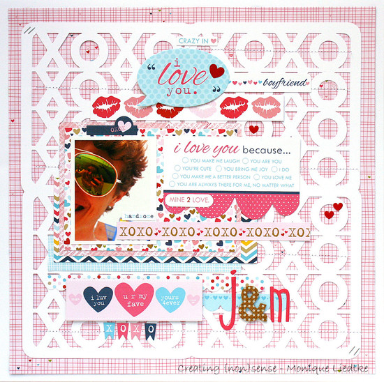 I love you scrapbook page hugs and kisses monique liedtke 17turtles digital cut files 01a