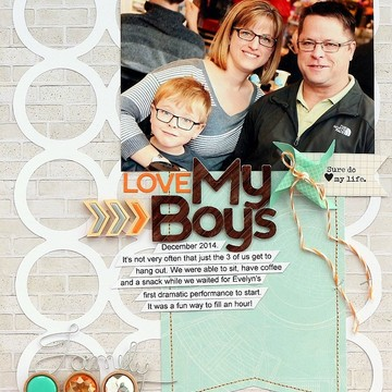 Love my boys layout by sarah webb