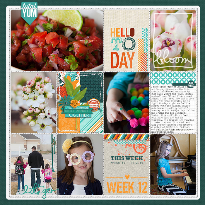 Project Life Ideas 2015 Project Life 2015 Week 12 w