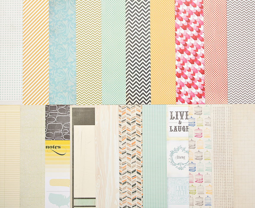 Add-On Patterned Paper - January 2013