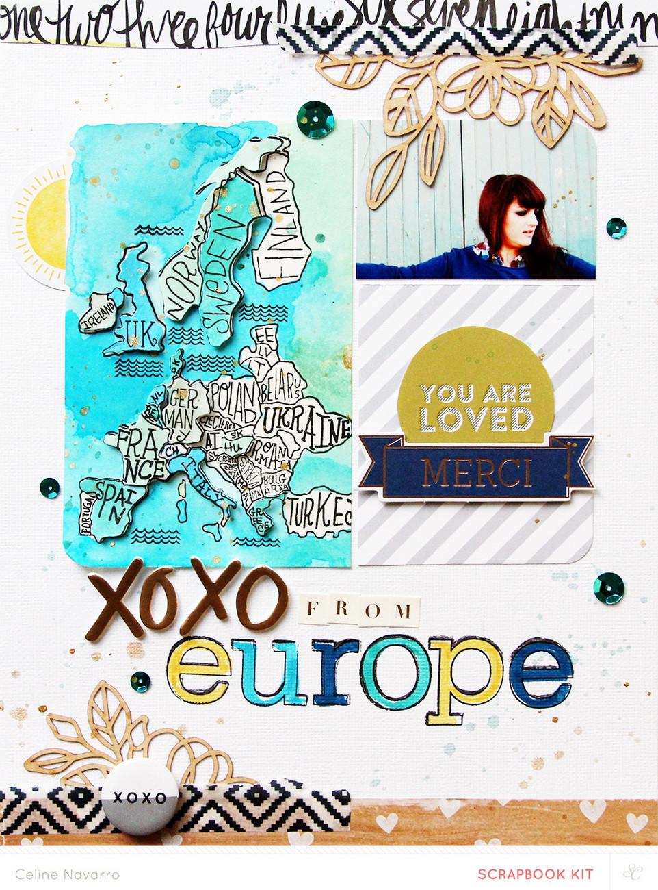 Picture 3 of Europe Stamp + Die Set
