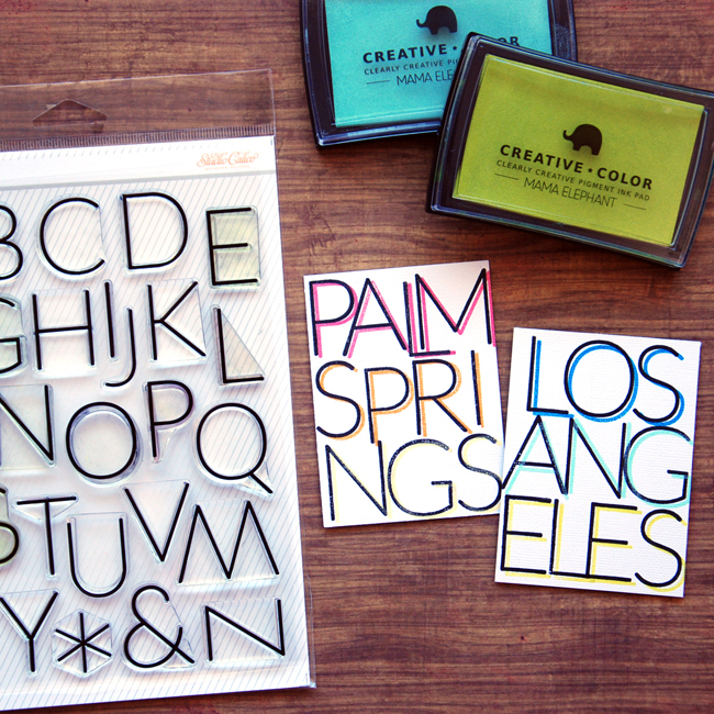 Picture 4 of Laina Alpha Stamp Set
