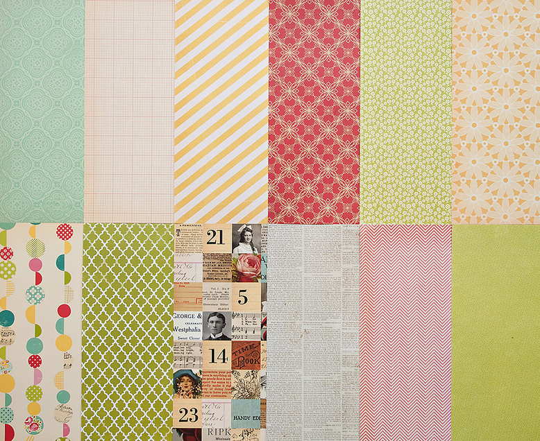Add-On Patterned Paper  - November 2011