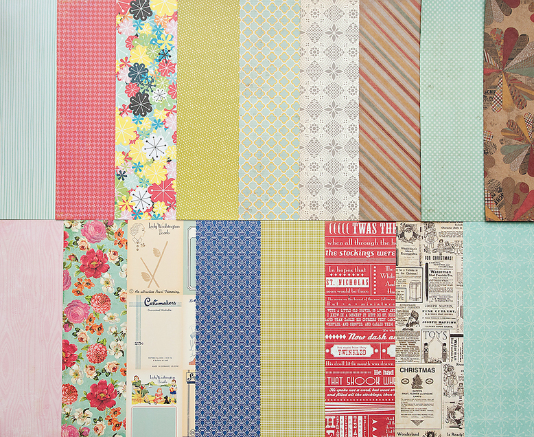 Add-On Patterned Paper - December 2011