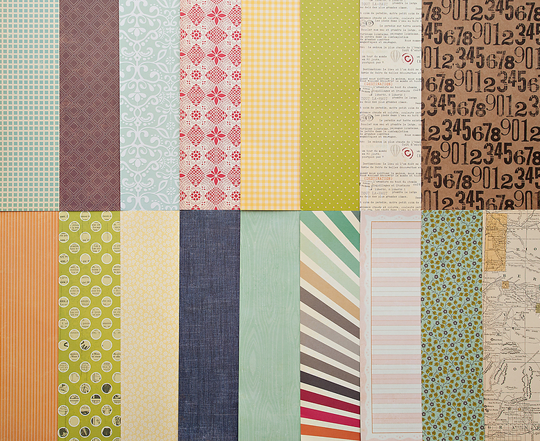 Add-On Patterned Paper - January 2012