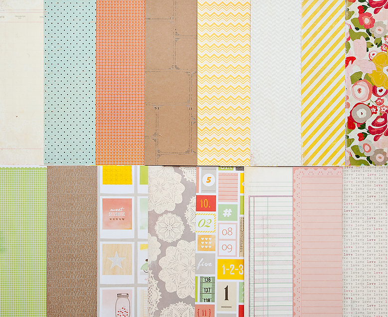 Add-On Patterned Paper - February 2012