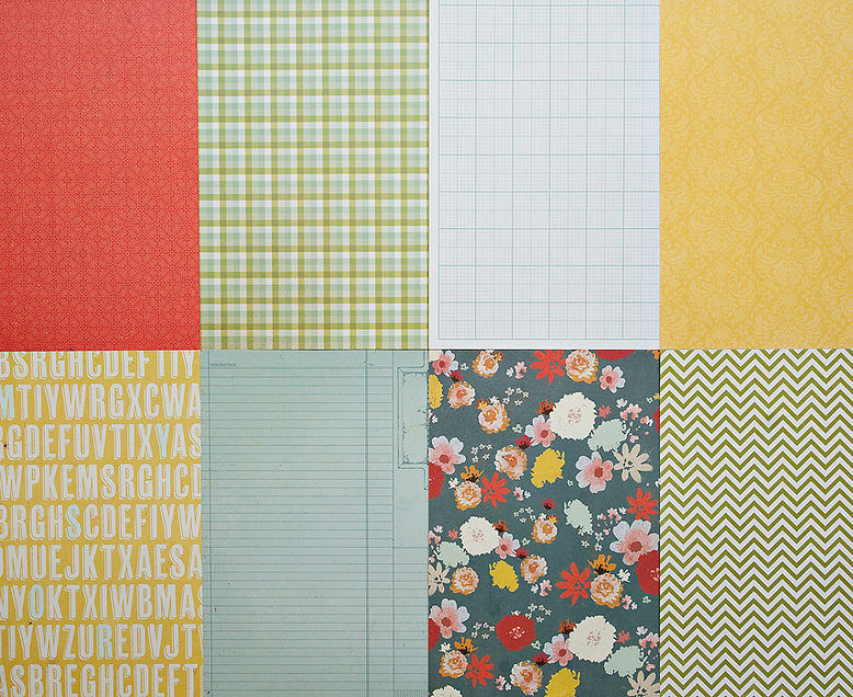 More Patterned Paper - March 2012