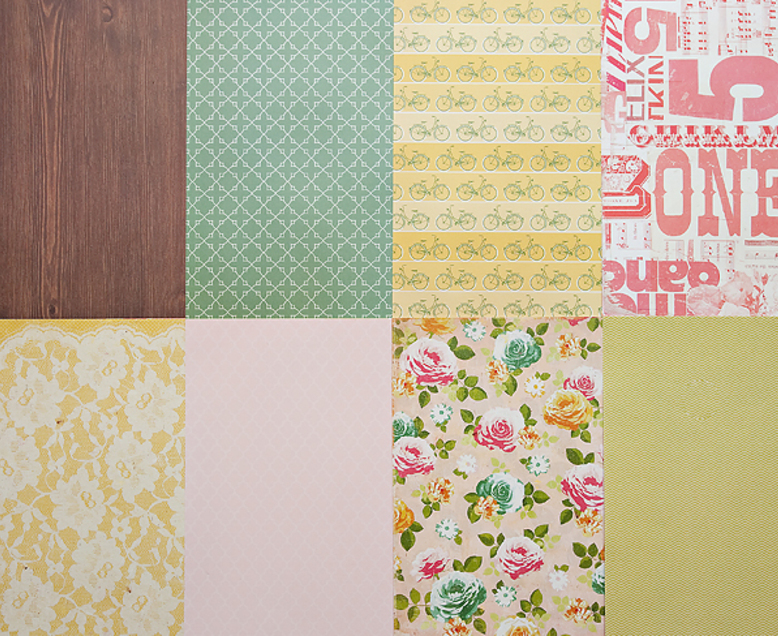 More Patterned Paper - April 2012