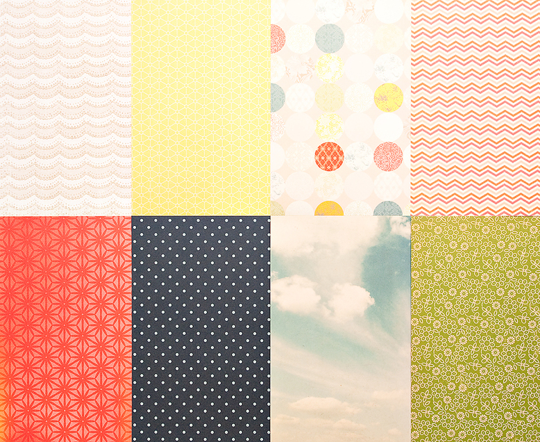 More Patterned Paper - August 2012