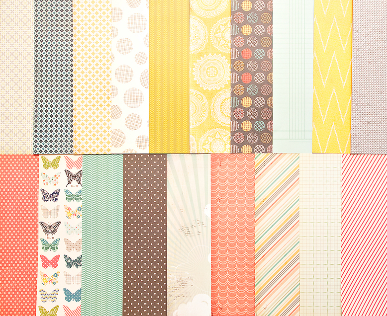 Add-On Patterned Paper - August 2012