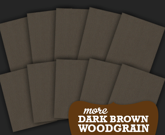More card dark brown woodgrain