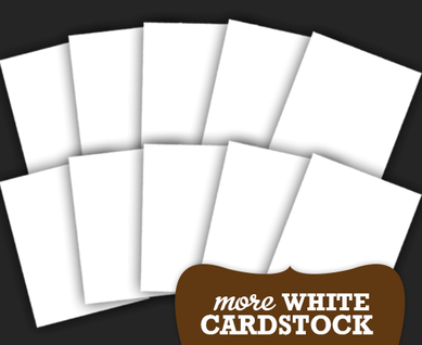 More white cardstock for card kit